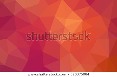 orange abstract geometric rumpled triangular low poly style illustration Stock photo © artush