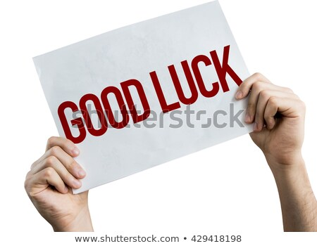 Best of luck friends. Stock photo © stockyimages