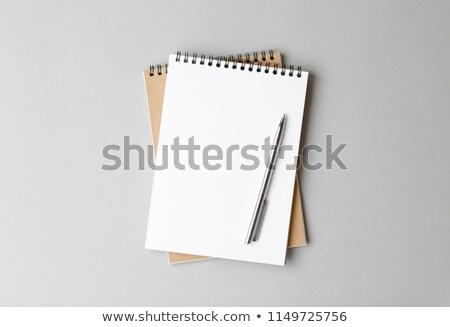 personnelles · organisateur · planificateur · stylo · blanche · luxe - photo stock © punsayaporn