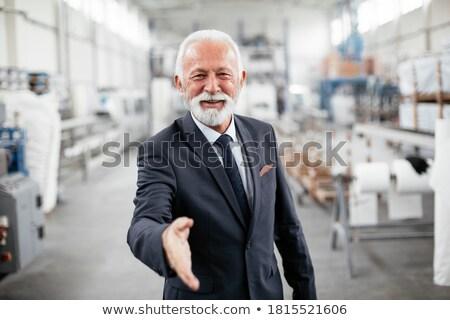 Gericht zakenman permanente voortvarend handen witte Stockfoto © wavebreak_media