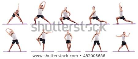 Sport vonzó férfi fitnessz fehér szexi Stock fotó © vlad_star