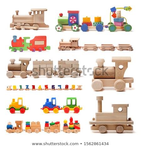 木製 木製玩具 鉄道 蒸気 赤 エンジン ストックフォト © vtls