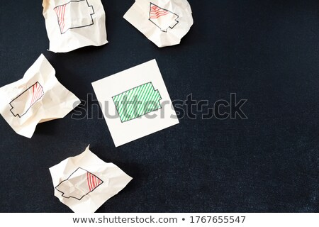 empty battery drawn in chalk stock photo © rastudio