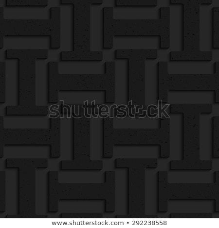 Black textured plastic solid double T Stock photo © Zebra-Finch