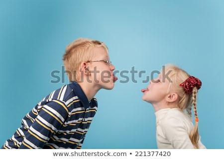 cute siblings teasing each other stock photo © wavebreak_media
