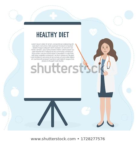 Tábla izolált fehér felirat információ óriásplakát Stock fotó © shutswis