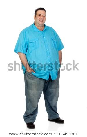 Excesso de peso homem isolado branco esportes saúde Foto stock © Elnur