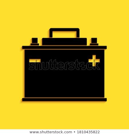 батареи желтый вектора икона кнопки дизайна Сток-фото © rizwanali3d