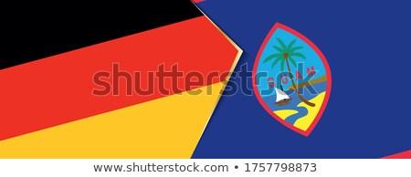 Duitsland Guam vlaggen puzzel geïsoleerd witte Stockfoto © Istanbul2009