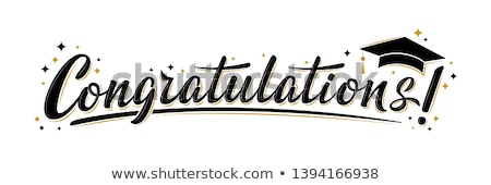 Glückwunsch · Abschluss · Illustration · funny · Erfolg · Universität - stock foto © adrenalina