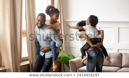 mom embraces husband with the son Stock photo © Paha_L