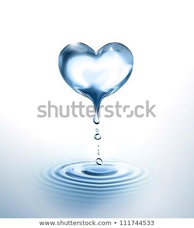 fehér · szív · víz · piros · absztrakt · terv - stock fotó © kirs-ua