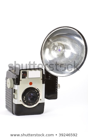 Retro herleving lens cap houten tafel Stockfoto © wavebreak_media