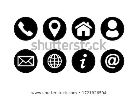 Establecer mapa iconos sitio web comunicación negocios Foto stock © kiddaikiddee
