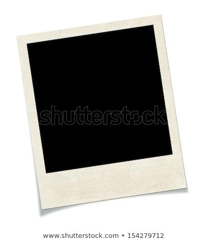 Photo frame caixa de presente azul cor foto apresentar Foto stock © Massonforstock