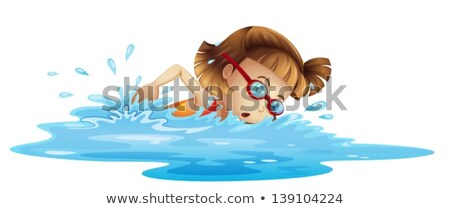 blue water splash isolated on white background. vector illustration stock photo © Samoilik