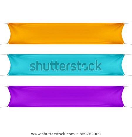 Orange textile banner Stock photo © cherezoff