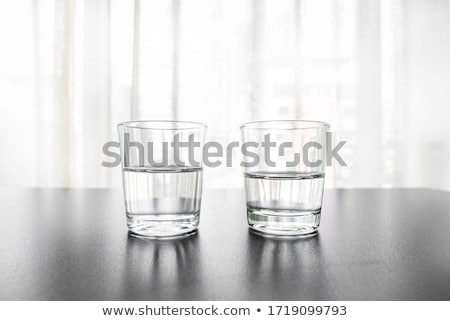 Foto stock: óculos · água · vidro · secretária · tabela · casa