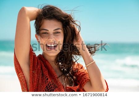 気楽な 少女 実例 ツリー 子供 自然 ストックフォト © adrenalina