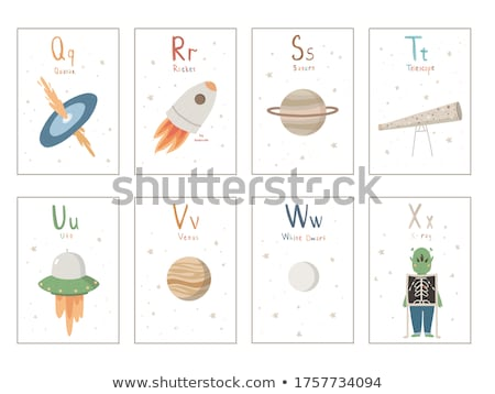 Flashcard letter S is for saturn Stock photo © bluering