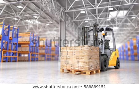 Targonca teherautó karton dobozok raktár vektor Stock fotó © RAStudio