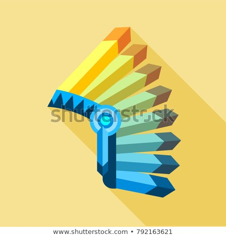 mohawk hat wild west flat icons vector illustration Stock photo © konturvid