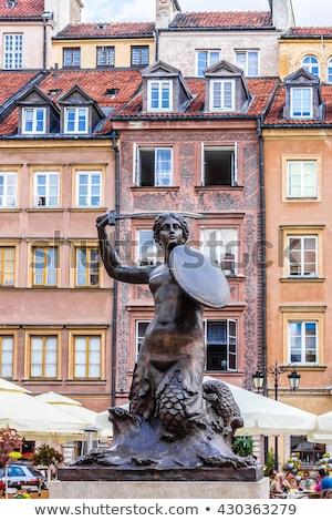 人魚 像 ワルシャワ 旧市街 広場 ポーランド ストックフォト © FER737NG