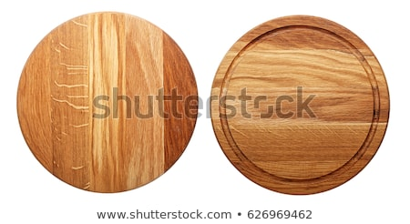 Stock photo: Round cutting board