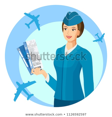 A smiling stewardess Stock photo © bluering