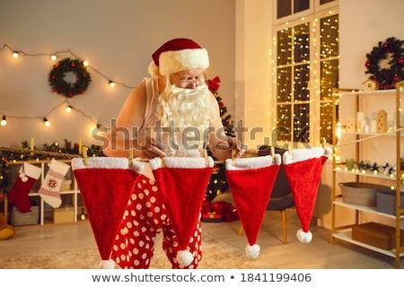 Adam Noel renkli kırmızı ev Stok fotoğraf © ozgur