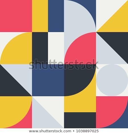 аннотация геометрический Рисунок квадратный отдельный вектора Сток-фото © Vanzyst