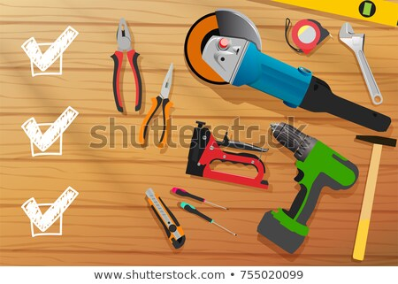 Carpenters workshop table top view Stock photo © stevanovicigor