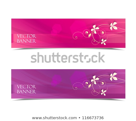 2 バナー ピンクの花 垂直 抽象的な 明るい ストックフォト © blackmoon979