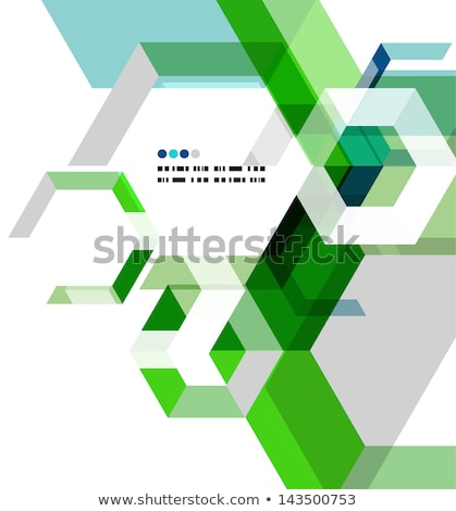 Briefkopf Vorlage abstrakten Sechseck Muster Business Stock foto © SArts