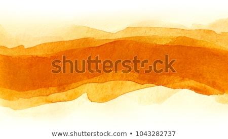 Oranje aquarel inkt vlek textuur Stockfoto © SArts