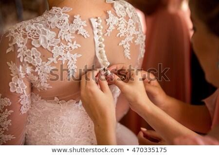 結婚式 細部 招待 ドレス ウェディングドレス 紙 ストックフォト © dariazu