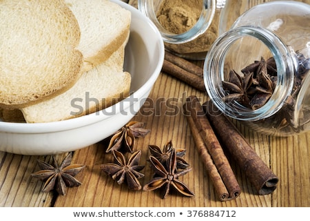 Fahéj pirítós kenyér fehér háttér falatozó stúdiófelvétel Stock fotó © Digifoodstock