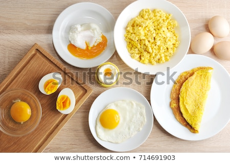 chicken eggs on a plate stock photo © novic