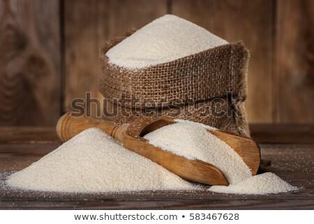 spoonful of semolina flour stock photo © digifoodstock