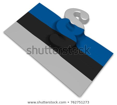 paragraph symbol and flag of estonia   3d rendering stock photo © drizzd