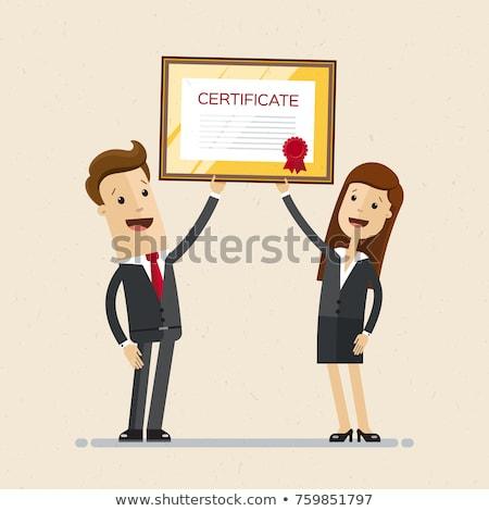 diploma · ilustração · projeto · fundo · educação · assinar - foto stock © bluering