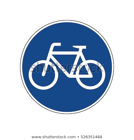 Stock photo: Bicycle Lane Sign