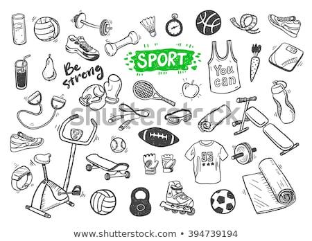 Handen aangrijpend volleybal paar mannelijke geïsoleerd Stockfoto © albund
