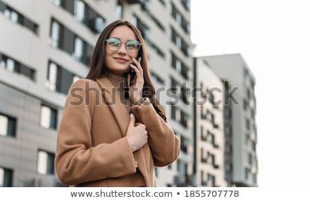 Działalności stylu kobieta interesu telefonu komórkowego Zdjęcia stock © Fisher