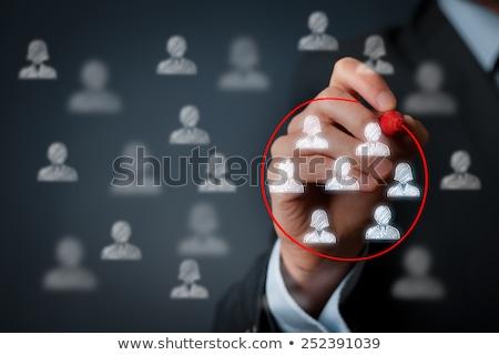 reclutamento · processo · informazioni · lavagna · mano · punta - foto d'archivio © lightsource
