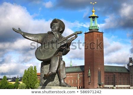 chanson · statue · vue · Stockholm · Suède · bâtiment - photo stock © vladacanon