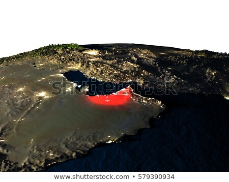 United Arab Emirates in red from orbit Stock photo © Harlekino