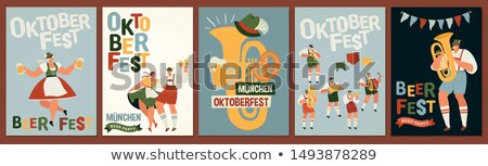 Stock photo: Card with Oktoberfest