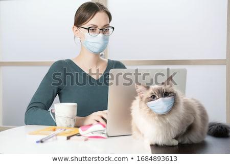 woman in cat mask stock photo © LightFieldStudios