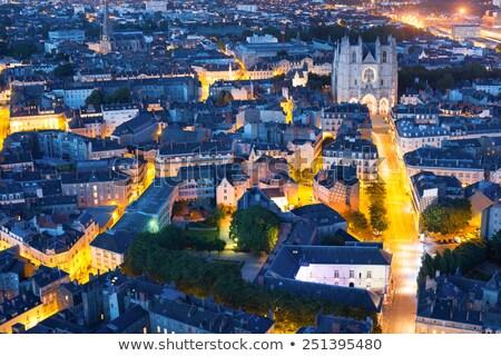 arquitectura · noche · ciudad · azul · viaje - foto stock © benkrut
